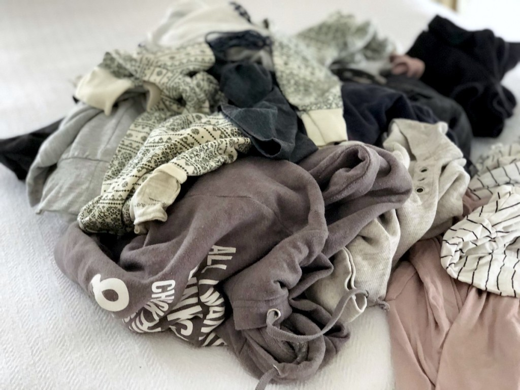 pile of messy clothes