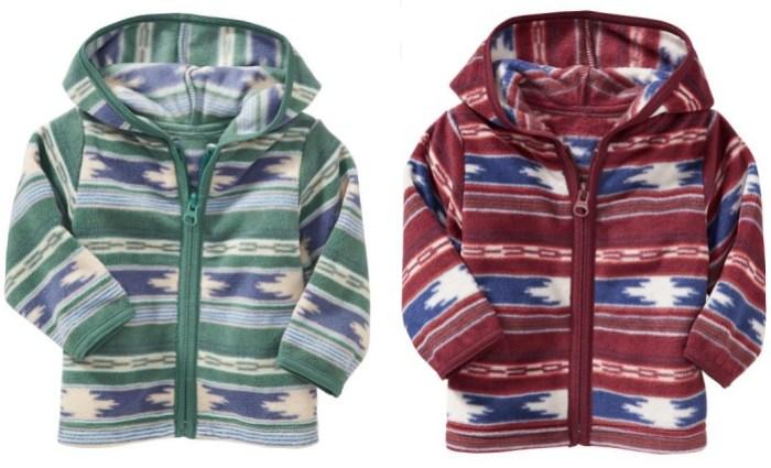 Micro Performance Fleece Zip-Front Hoodie for Baby
