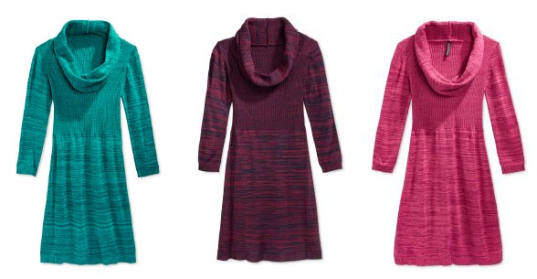 Miss Understood Girls' Marled Cowl Neck Sweater Dress