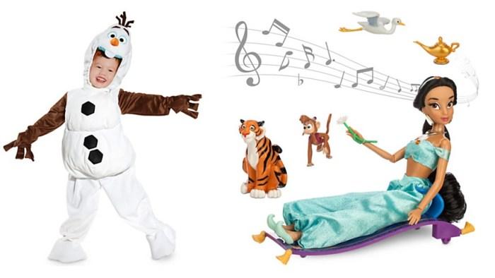 Olaf Costume and Jasmine Doll