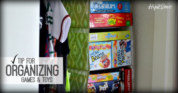 Organize Games With a Sweater Hanging Rack
