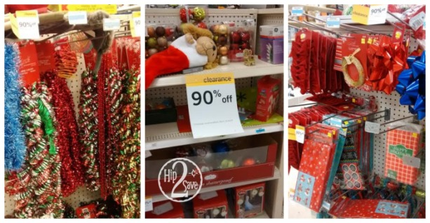 Hip2Save reader, V, spotted Christmas items marked down to 90% off  including Christmas tree decor, stockings, lights, ribbon and much more!  Kmart Clearance - Kmart: 90% Off Christmas Clearance - Hip2Save