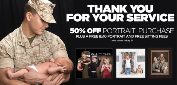 JCPenney Portraits: FREE 8×10 Portrait for Military Members (a $9.99 Value!)