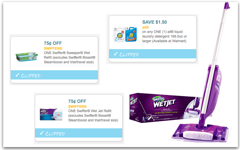 picture relating to Swiffer Wet Jet Coupons Printable identified as Plenty of Fresh new Cleansing Merchandise Printable Coupon codes - Hip2Conserve