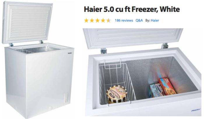 Haier 5.0 cu ft Freezer in White