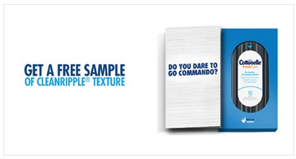 FREE Cottonelle with CleanRipple Texture Sample