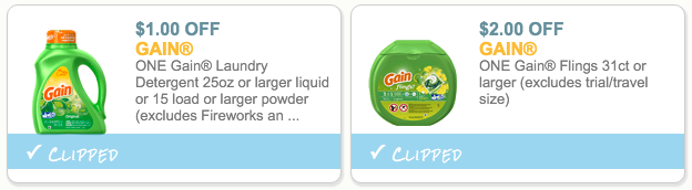 Gain Laundry Detergent Coupons