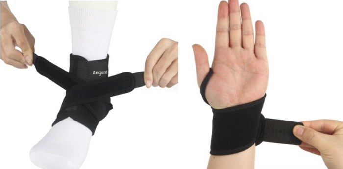 Aegend Adjustable Wrist Support AND Ankle Support Wraps