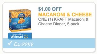 Kraft Macaroni & Cheese 5 pack coupon