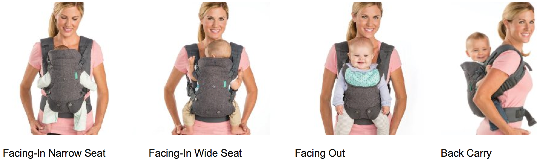 Light Grey Infantino Flip Advanced 4-in-1 Convertible Carrier