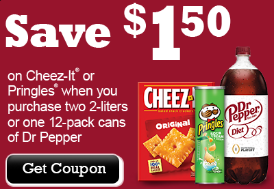 Dr. Pepper/Cheez-It/Pringles coupon