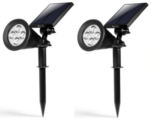 TWO Pack of Solar Powered Outdoor Lights
