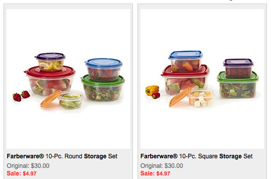 Storage sets