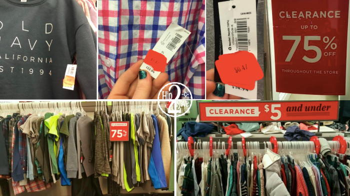 Old Navy In-Store Clearance: Up to 75% Off