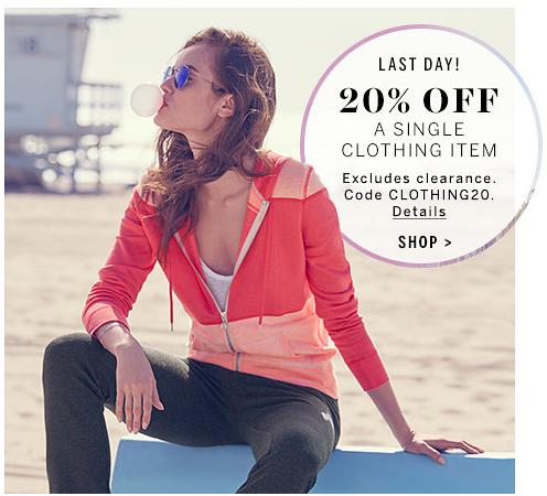 Victoria's Secret 20% off Clothing Item