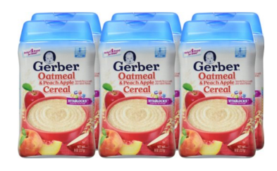 Gerber Baby Cereal Grain and Fruit Variety Pack (Pack of 6)