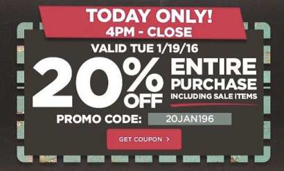Michaels: 20% Off Entire Purchase Including Sale Items Coupon