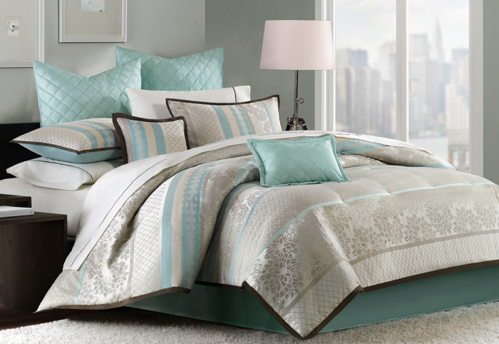 Highly Rated Madison Park Paige 8 Piece Queen Or King Comforter Set