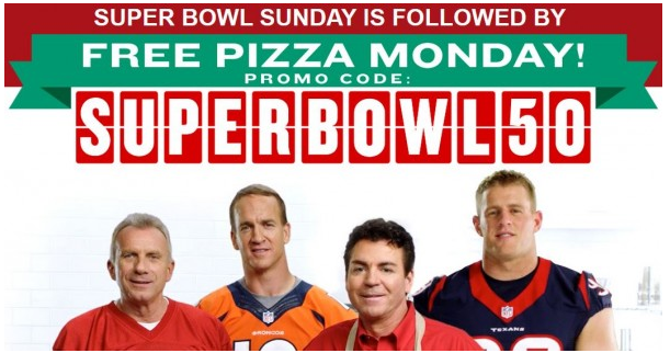 Papa John's Free Pizza offer