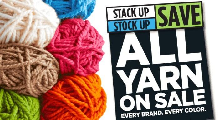 Stock up on Yarn