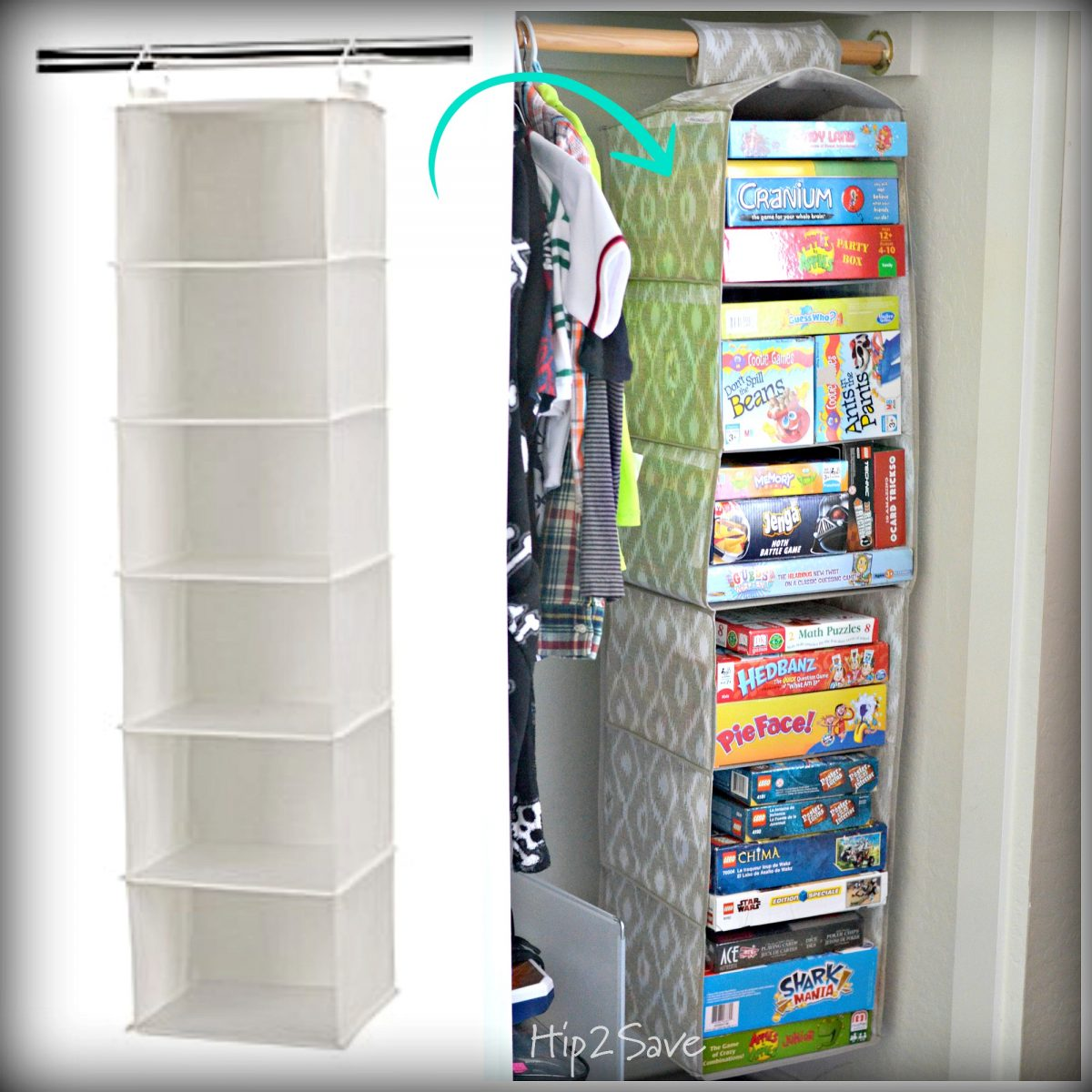 Sweater Rack to Game & Toy Organizer Hip2Save.com