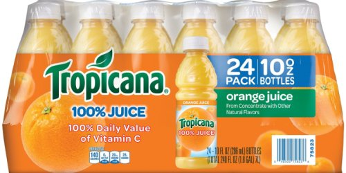 Amazon Prime: Tropicana Orange Juice & Apple Juice 10oz Bottles As Low As 45¢ Each Shipped