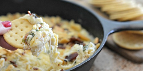 Easy 6-Ingredient Swiss Cheese Bacon Dip
