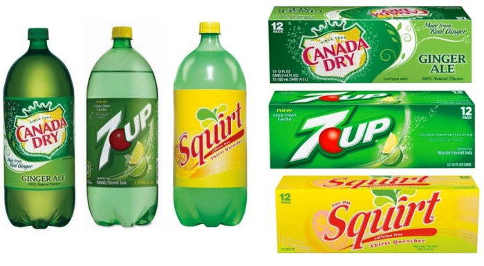 Canada Dry, 7UP and Squirt Sodas