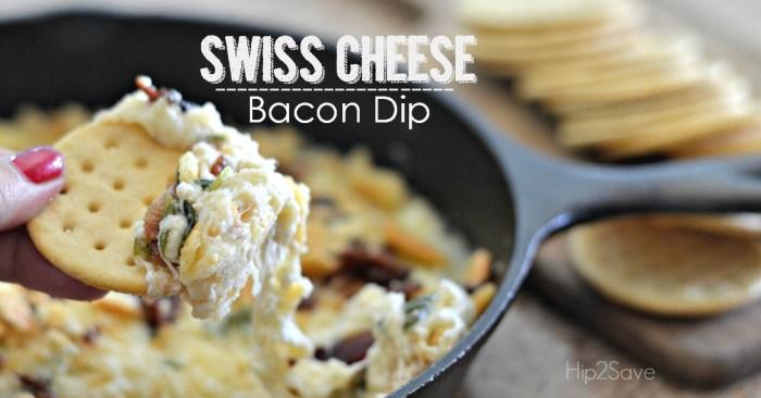 Easy Swiss Cheese Bacon Dip