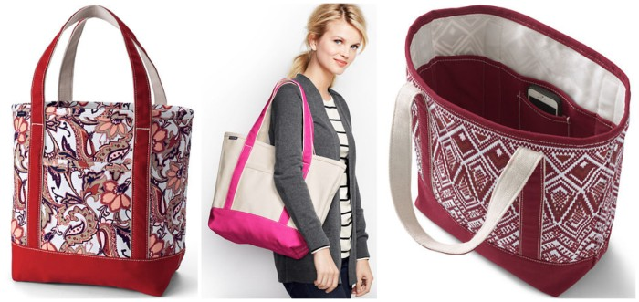 Lands' End: 25% Off Sitewide = Highly Rated Open-Top Tote Just $14.99 (Regularly $38) + More