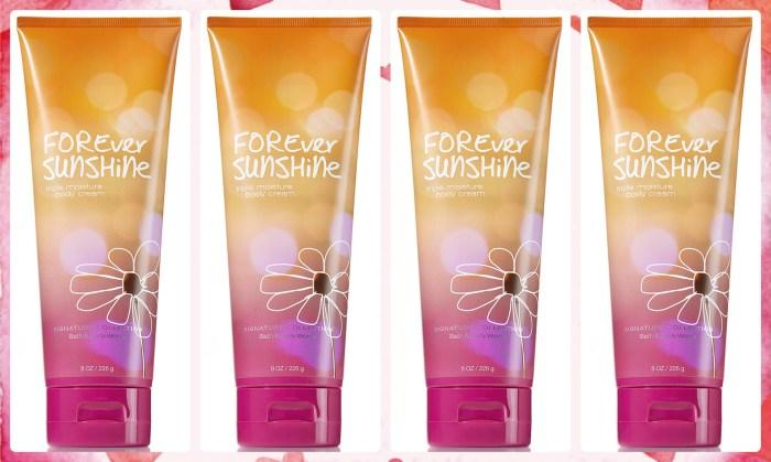 Bath & Body Works: 4 Forever Sunshine Body Creams $3.25 Each Shipped (Reg. $13) + More