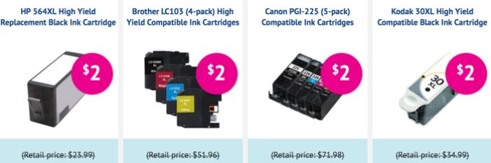CompAndSave com: $2 Sale on Select Ink Cartridges (Save on