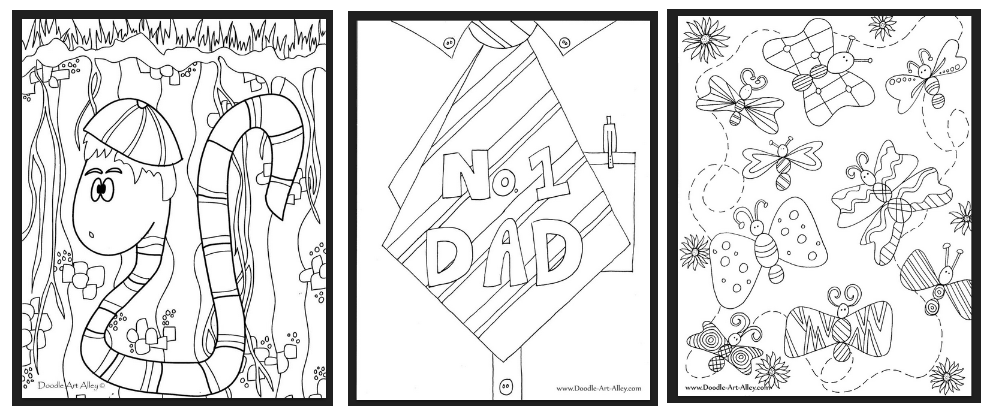 FREE Doodle Art Printable Coloring Pages - Hip2Save
