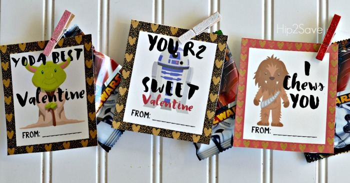 Star Wars Free Printable Valentines for the Classroom Hip2Save.com