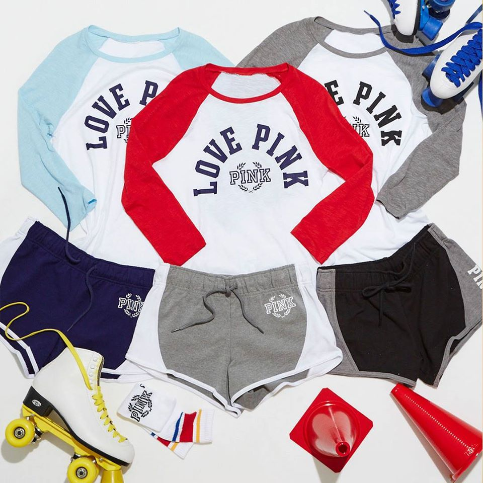 pink shorts victoria's secret 2016