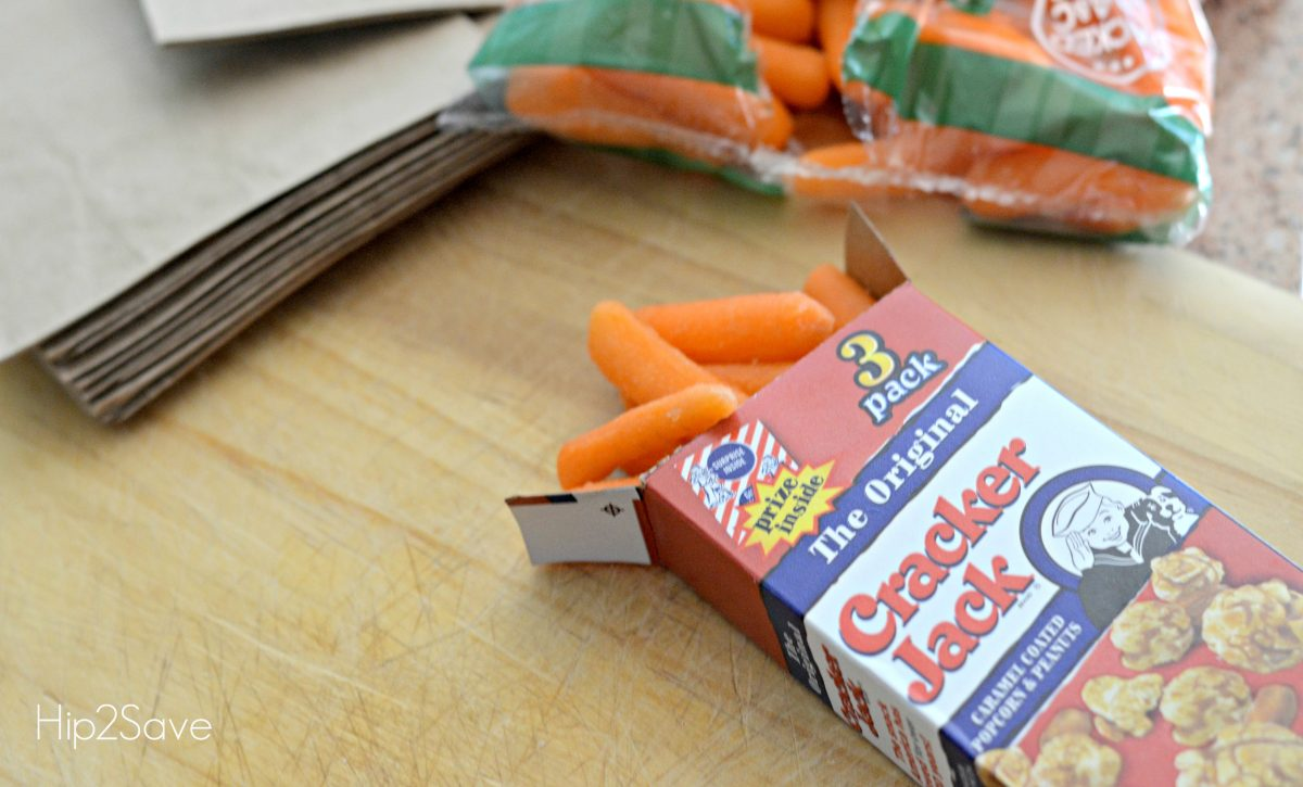 carrots in a cracker jack box
