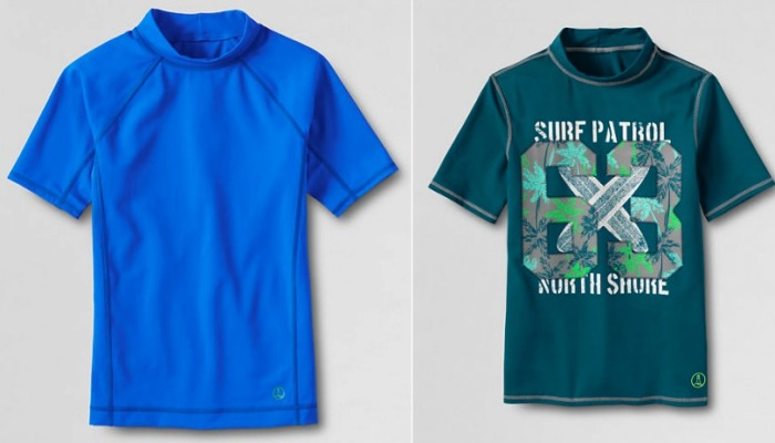 Lands End: Extra 31.4% Off Your Purchase Today Only = Boy's Rash Guard Only $4.73 (Reg. $25)