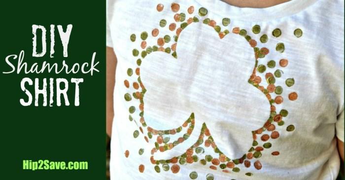DIY Shamrock T-Shirt (St. Patrick's Day Craft)