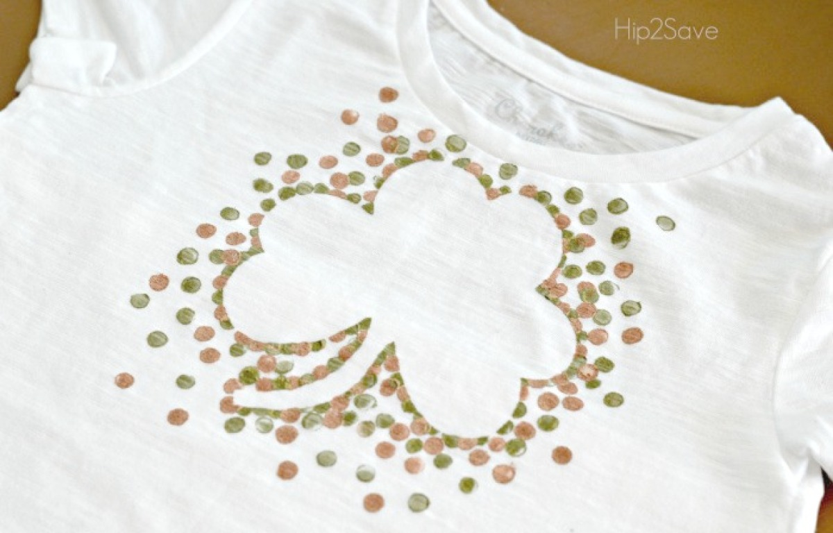DIY St. Patrick's Day Shirt by Hip2Save.com