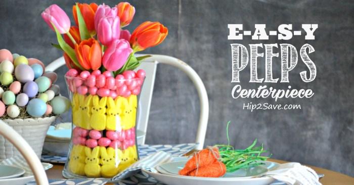 Easy Peeps Centerpiece (Easter Craft Idea)
