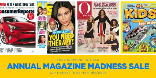 Magazine Madness Sale (Consumer Reports, Us Weekly & More) – Starting at Just 19¢ Per Issue