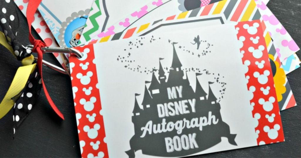 free disney autograph book printables hip2save
