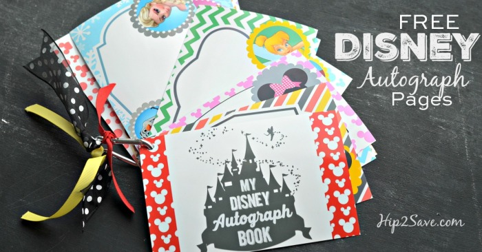 Free Disney Autograph Pages Hip2Save.com