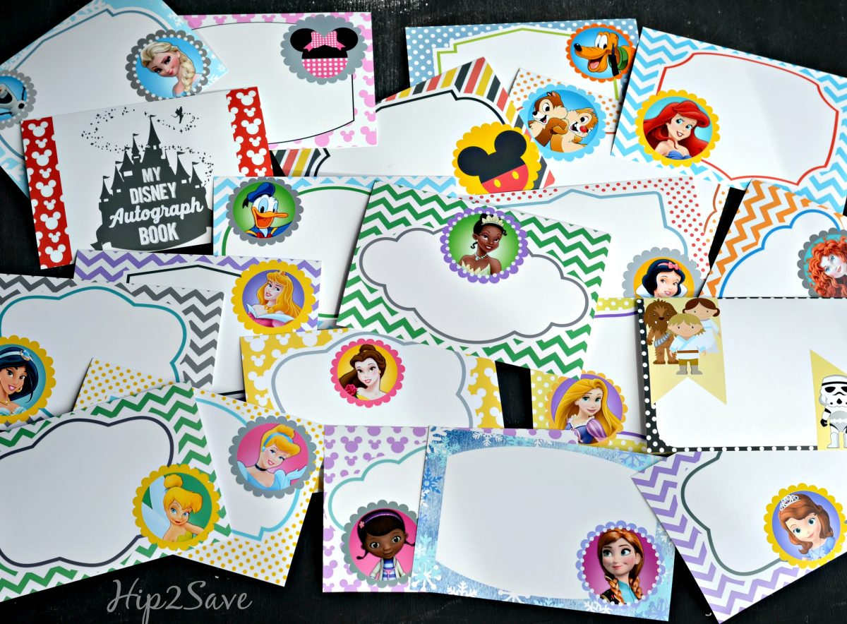 photo regarding Free Printable Disney Tickets called No cost Printable Disney Persona Autograph Webpages (Excellent for