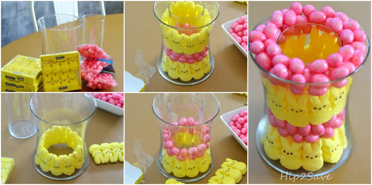 How to Make a glass PEEPS Easter Centerpiece