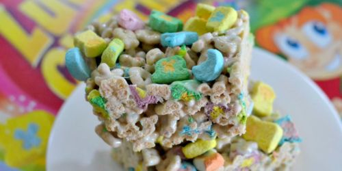 Lucky Charms Marshmallow Treats – Only 3 Ingredients (Fun for St. Patrick's Day)