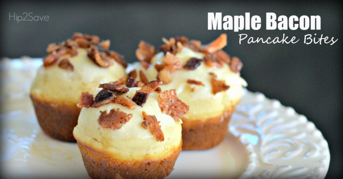 Maple Bacon Pancake Bites Hip2Save.com