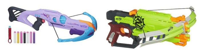 Nerf Rebelle and Nerf Zombie Strike