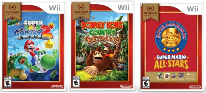 Nintendo Selects Wii games