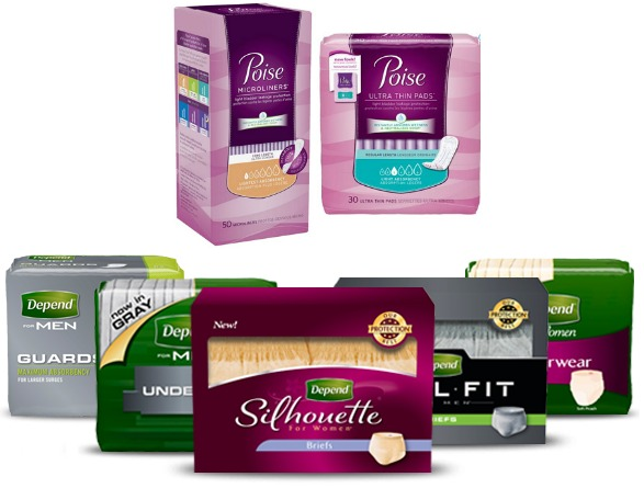 $12 Worth Of Poise And Depend Coupons = Depends Or Poise